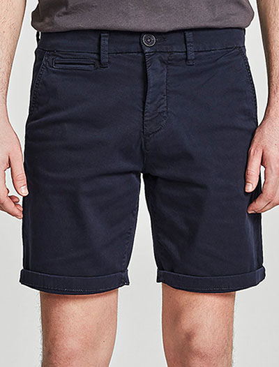 North Sails: Chino Short Slim, Tummansininen